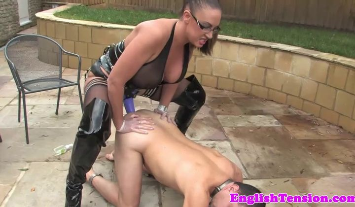 720p - Bigtitted Bdsm Mistress Pegging Her Sub