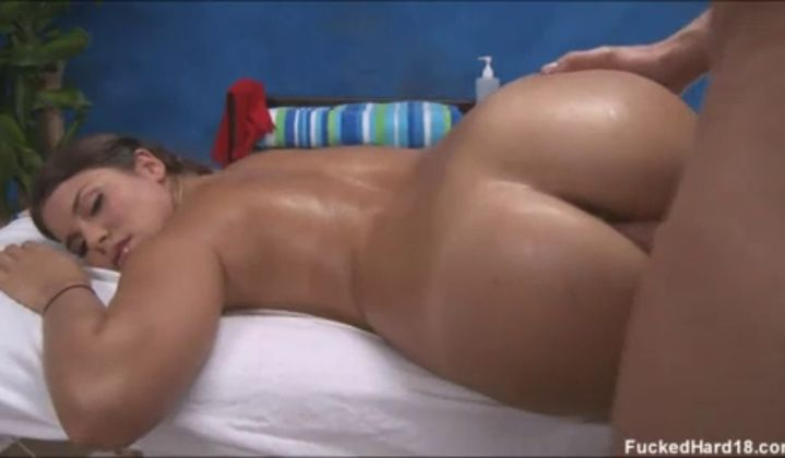 Teen - Chick Gets Fucked Hard On Massage Table